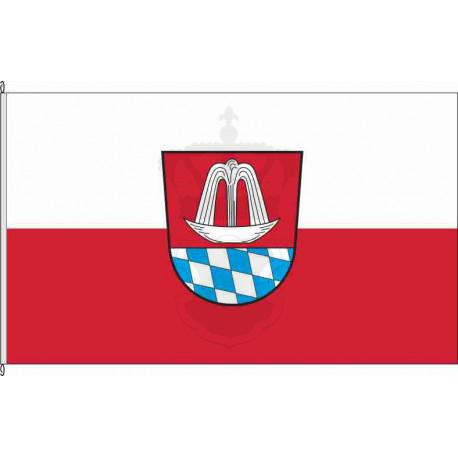 Fahne Flagge TÖL_Bad Heilbrunn