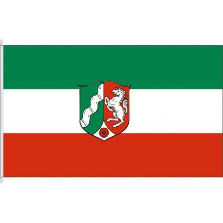 NW-Landesdienstflagge Nordrhein-Westfalen.