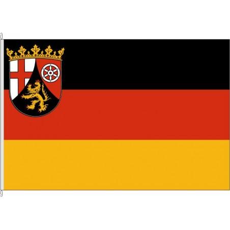RP-Landesflagge Rheinland-Pfalz.