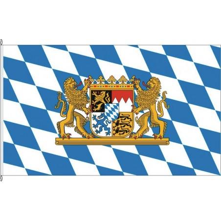 BY-Landesflagge Bayern. inoffiziell