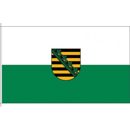 SN-Dienstflagge Sachsen.