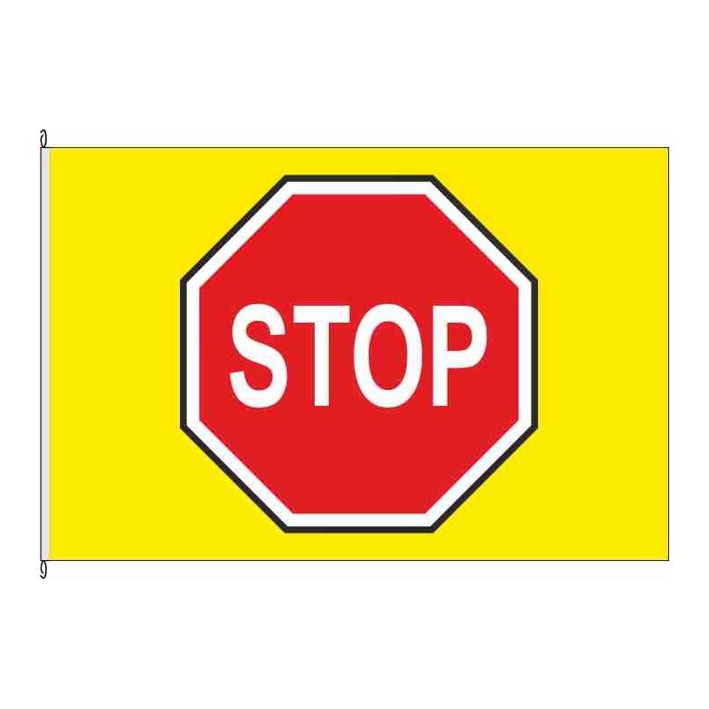 Fahne Flagge So-Schild Stop