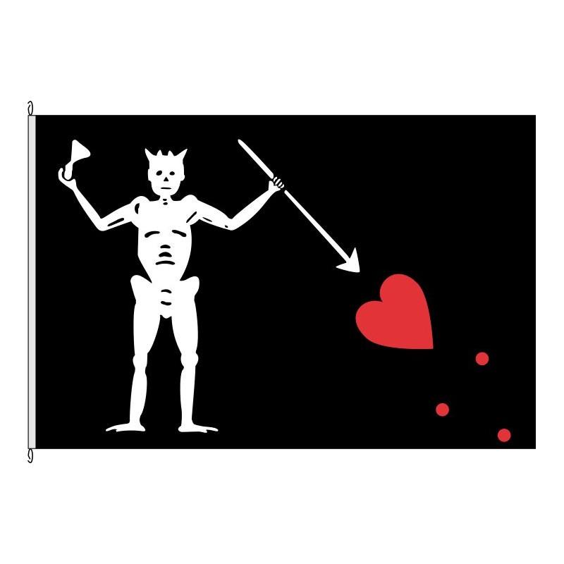 Fahne Flagge So-Pirat Blackbeard