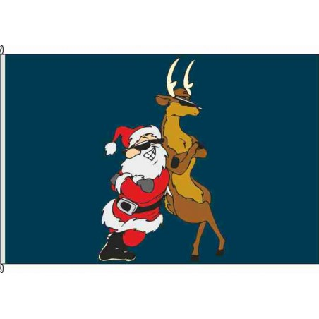 So-Santa and Reindeer blau