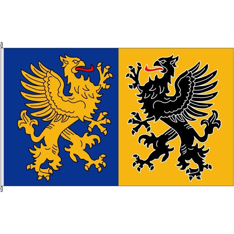 Fahne Flagge NVP-Landkreis Nordvorpommern historisch