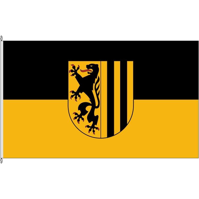 Fahne Flagge DD-Dresden altern.