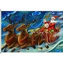 Santa und Reindeer