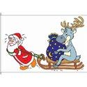 Santa Claus und Reindeer